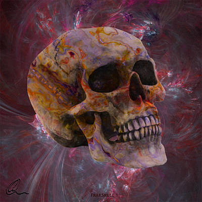 Digital Art - Fracskull 1 by Chris Thomas