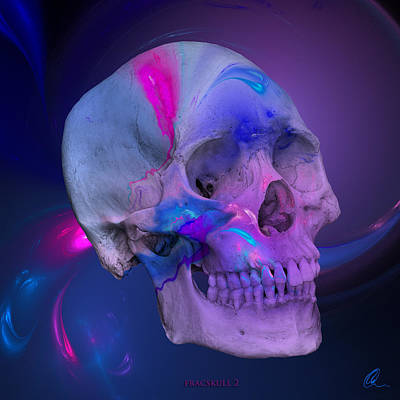 Digital Art - Fracskull 2 by Chris Thomas