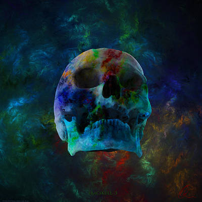 Digital Art - Fracskull 3 by Chris Thomas
