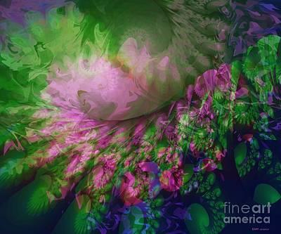 Fracta-flora Print by Elizabeth McTaggart