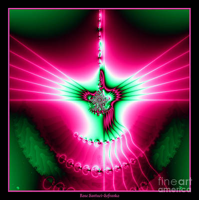 Digital Art - Fractal 11 Holy Spirit by Rose Santuci-Sofranko