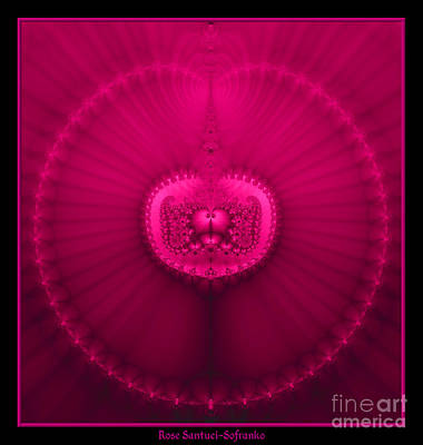 Digital Art - Fractal 20 Jeweled Medallion  by Rose Santuci-Sofranko