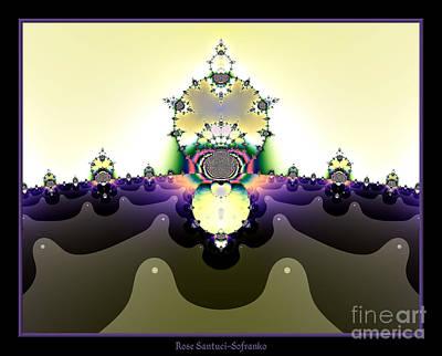 Digital Art - Fractal 22 Cactus In The Desert by Rose Santuci-Sofranko
