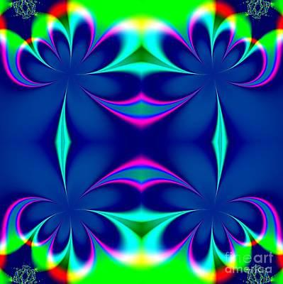 Digital Art - Fractal 24 Floral Fleur De Lis Mirrored by Rose Santuci-Sofranko