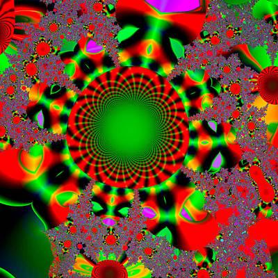Digital Art - Fractal #6b by Tomasz Dziubinski