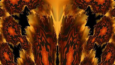 Digital Art - Fractal Abstract 15-01 by Maria Urso