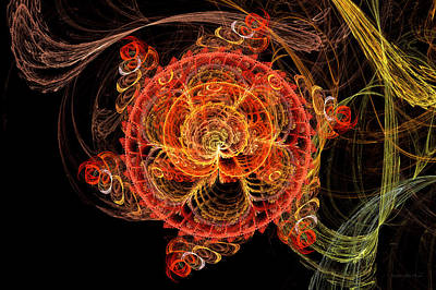 Digital Art - Fractal - Abstract - Mardi Gras Molecule by Mike Savad