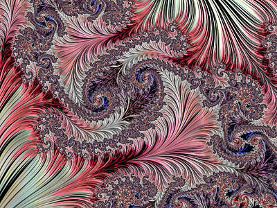 Digital Art - Fractal Art - Silk Brocade by HH Photography of Florida