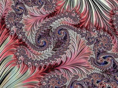 Digital Art - Fractal Art - Silk Brocade by HH Photography of Florida