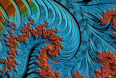 Digital Art - Fractal Art - The Big Wave by HH Photography of Florida