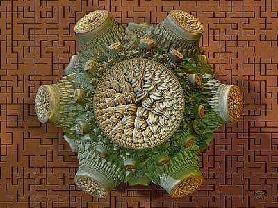 Digital Art - Fractal Artifact by Manny Lorenzo