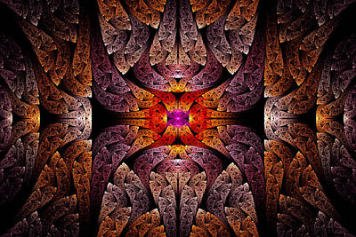 Photograph - Fractal - Aztec - The Aztecs by Mike Savad