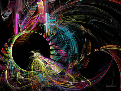 Digital Art - Fractal - Black Hole by Susan Savad