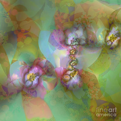 Fractal Blossoms Art Print by Ursula Freer