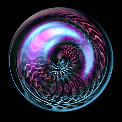 Fractal Bubble Art Print by Hakon Soreide