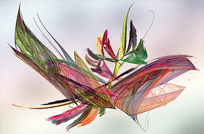 Fluttering Digital Art - Fractal Butterfly by Camille Lopez