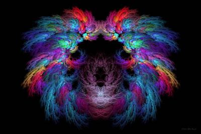 Digital Art - Fractal - Christ - Angels Wings by Mike Savad