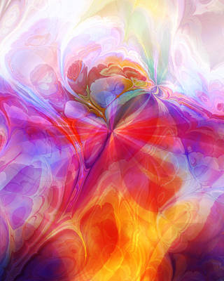 Abstract Digital Digital Art - Fractal Desire by Lutz Baar