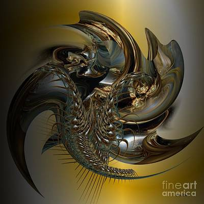 Fractal Display Art Print by Doris Wood