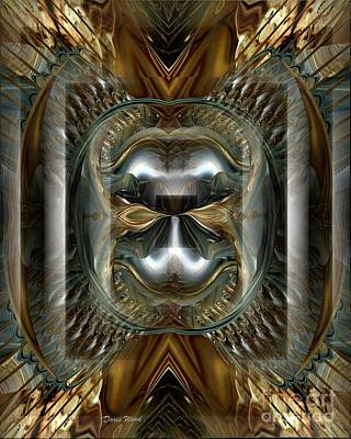 Digital Art - Fractal Display Number Eight by Doris Wood