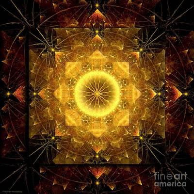 Digital Art - Fractal Energy Mandala Of The Year 2015 by Alexa Szlavics