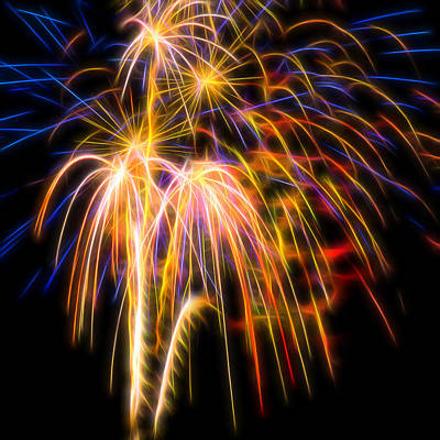 Photograph - Fireworks #1 by Yulia Kazansky