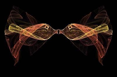 Fractal Geometry Digital Art - Fractal Fish by Carol and Mike Werner