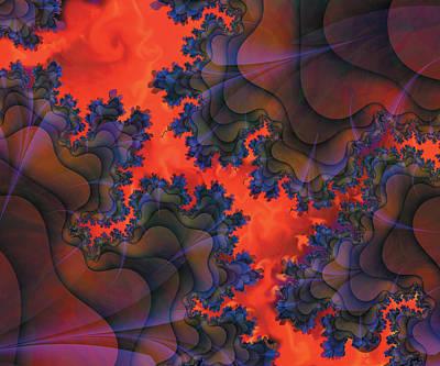 Digital Art - Fractal Fissure by Melinda Fawver
