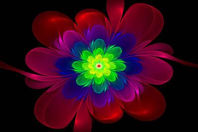 Digital Art - Fractal Flower II by Sandy Keeton
