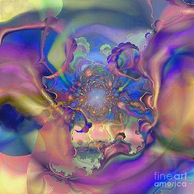 Digital Art - Fractal Flower by Ursula Freer