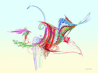 Photograph - Fractal - Flying Bird by Susan Savad