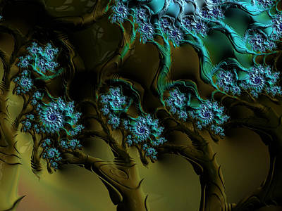 Fractal Forest Art Print by GJ Blackman