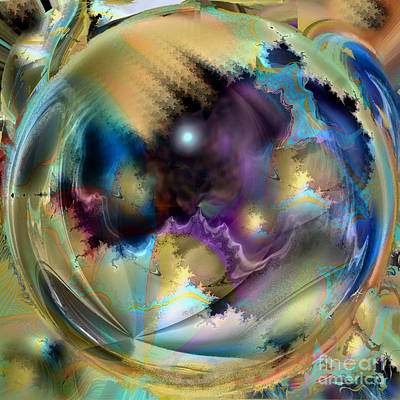 Digital Art - Fractal Globe by Ursula Freer