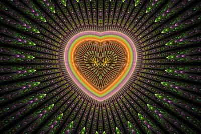 Digital Art - Fractal Heart 1 by Sandy Keeton