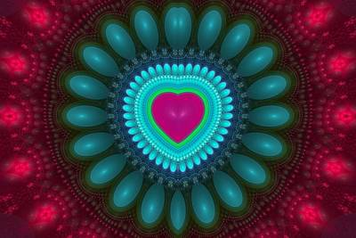 Digital Art - Fractal Heart 4 by Sandy Keeton