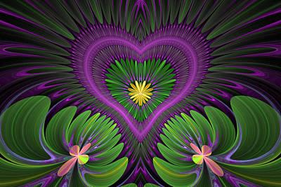 Digital Art - Fractal Heart 5 by Sandy Keeton