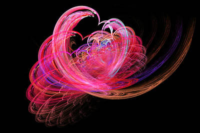 Digital Art - Fractal - Heart - Lets Be Friends by Mike Savad