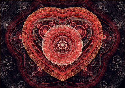 Digital Art - Fractal Heart by Martin Capek