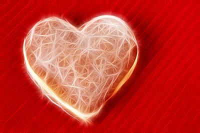 Heart Digital Art - Fractal Heart-shaped Cruller by Matthias Hauser