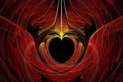 Fractal - Heart - Victorian Love Art Print by Mike Savad