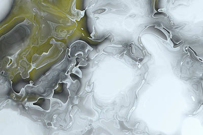Fractal Ice Print by Carol & Mike Werner