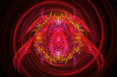 Digital Art - Fractal - Insect - Jeweled Scarab by Mike Savad