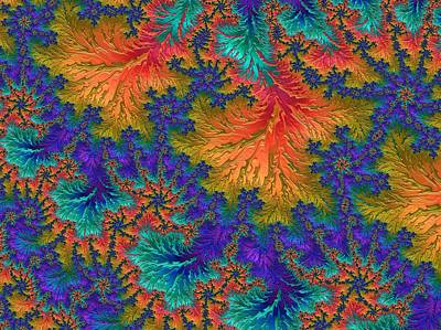 Digital Art - Fractal Jewels Series - Jubilation by Susan Maxwell Schmidt