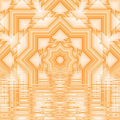 Popstar And Musician Paintings Royalty Free Images - Fractal kaleidoscope background Royalty-Free Image by Odon Czintos