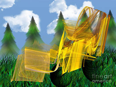 Digital Art - Fractal Lawn Tractor by Andee Design