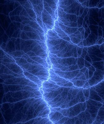 Lightning Bolt Photograph - Fractal Lightning Discharge by David Parker