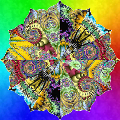 Digital Art - Fractal Lotus Zodiac by Derek Gedney