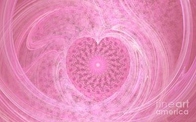 Digital Art - Fractal Love by Peggy Hughes