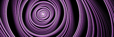 Fractal Purple Swirl Art Print