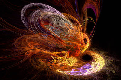 Digital Art - Fractal - Rise Of The Phoenix by Mike Savad